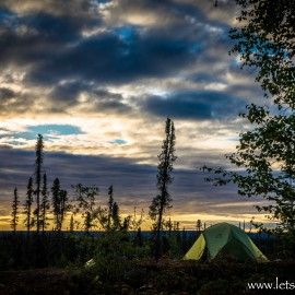 Day 1: Inuvik, NWT to Wild Camp, NWT
