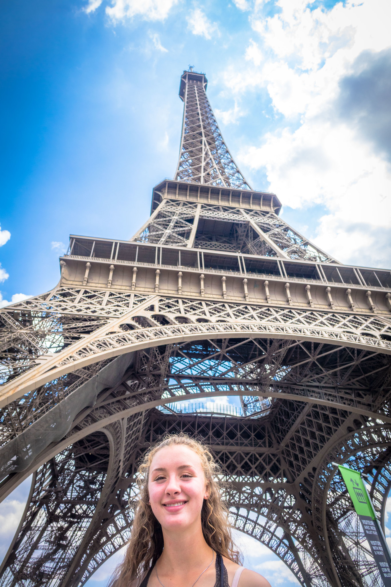 Stephanie's first visit to the Eiffel Tower in her life.